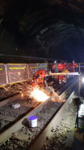 safety fences protect railroad workers