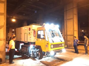 inspection of rail road grinder philippines MRT3-1