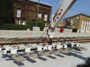 Sleepper laying beam model PTT 800