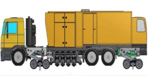 camion meulage rail route