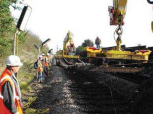 chantier ferrovaire pose rail palonnier universel