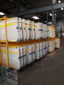 entrepôt racks panneaux défensifs EFFIAGE RAIL
