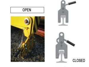 rail liftng beam gripper
