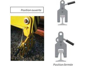 pince palonnier de manutention 5 rails