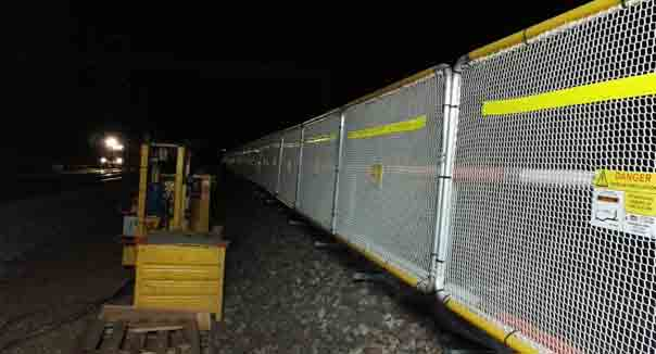 protection barrière ferroviaire nuit