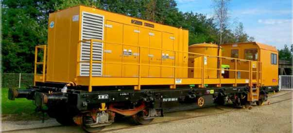 HIGH PRESSURE CLEANING WAGON WLR 1000B on track