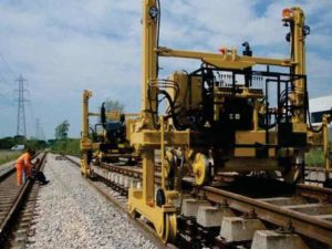 chantier pose voie ferre portique f40