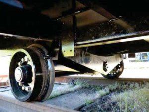 roue remorque de chantier ferroviaire