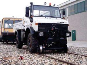 camion rail route unimog
