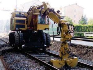 chargeur rail-route j882 chantier voie